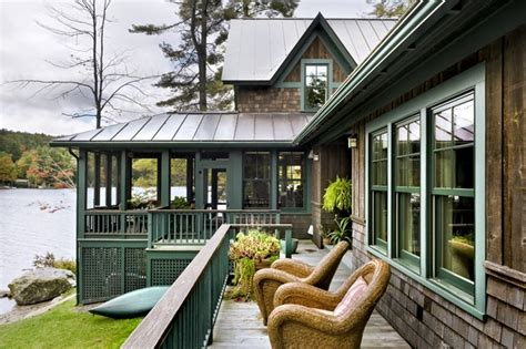 lake house rustic exterior burlington by smith vansant architects pc