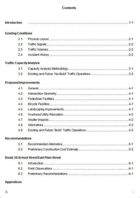 table of contents template 9 free documents in
