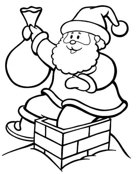 coloring pages santa chimney chimney coloring pages