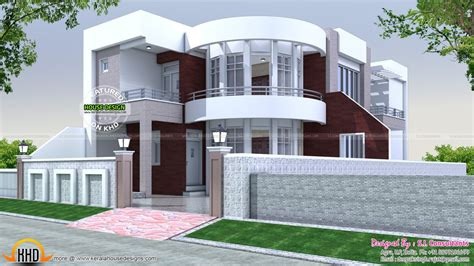 home design 7 40x75 cute modern house plan kerala home design and