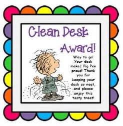 clean desk award 1000 ideas about desk on classroom
