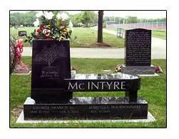 Bench Headstones For Graves Iowa Illinois Cemetery Granite Memorial Benches Cremation
