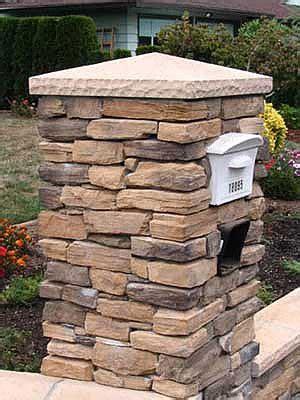 ideas  stone mailbox  pinterest deck
