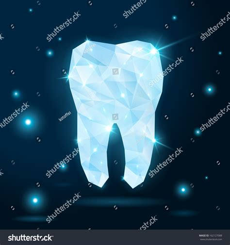 thesis abstract for dentistry polygonal white tooth on dark background stock vector