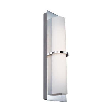 bathroom light wattage feiss cynder 10 watt chrome integrated led bath light wb1851ch led the home depot