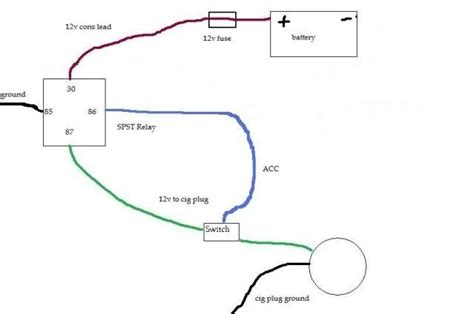 cigarette lighter wiring diagram wiring diagram and