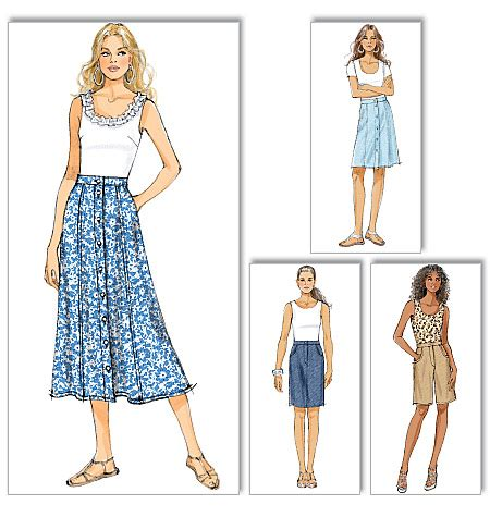 pattern review butterick 5826 butterick 5649 misses skirt and shorts