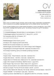 Curriculum Vitae Example by Resume Madsfridolin Dansk