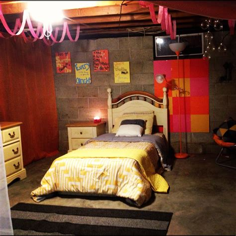 Basement Bedroom Cool Idea For Those Who Can T Afford To Basement Bedroom Unfinished Ceiling