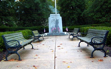 park bench nj war memorial site with benches in cranbury nj love s