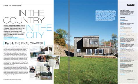 architectural designs magazine saint john modern architecture featured in international
