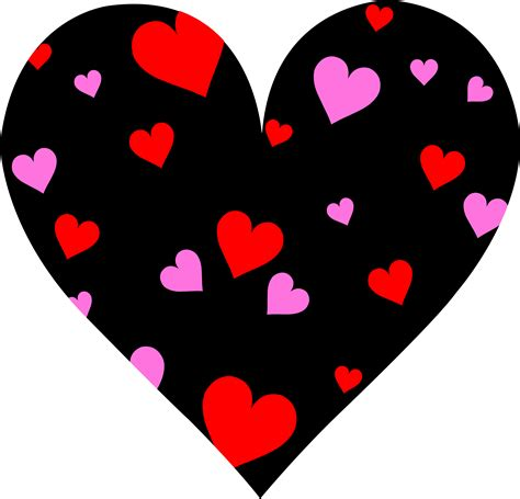 valentine hearts clip art cute patterned valentines day heart free clip art