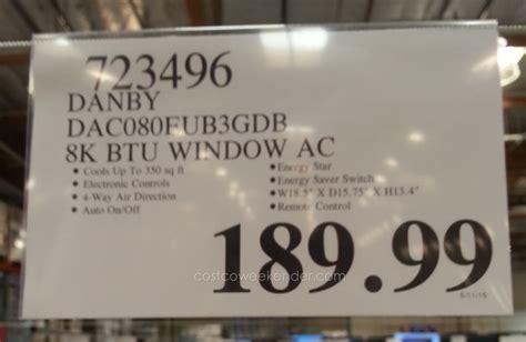 costco room air conditioner danby dac080eub3gdb window air conditioner 8000 btu costco weekender