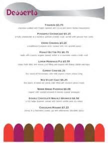 healthy dessert menu dessert menus