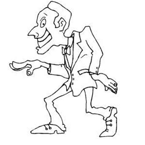 tap dancing man coloring coloring pages