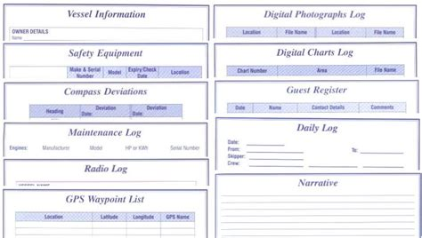 boat log book template views of the logbooks are available in this applet