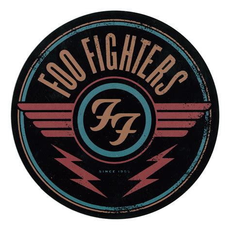 foo fighters logo sticker liquid blue