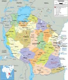 Tanzania Africa Map by Impressum