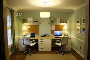 Home Office Ideas In Dining Room Home Office For Two Pictures Popsugar Home