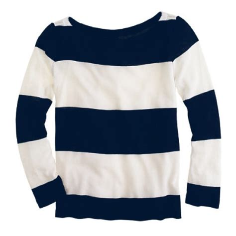 Stripe Mixed S M L Blouse N4932 Import 69 j crew tops j crew navy white rugby stripe