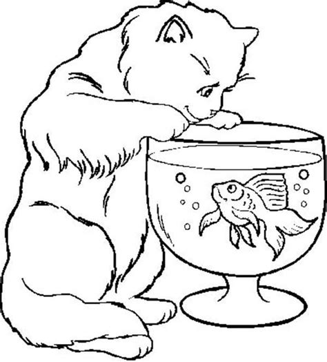 depression cats a coloring book by cat chion books cat trying to catch fish in fish bowl coloring page