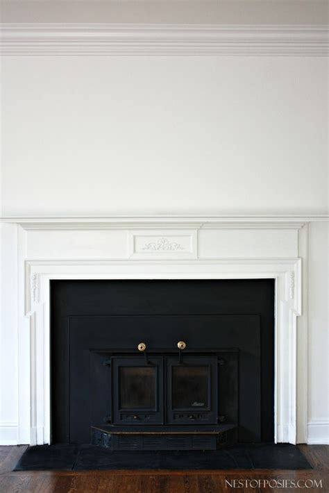 wood burning insert fireplace makeover