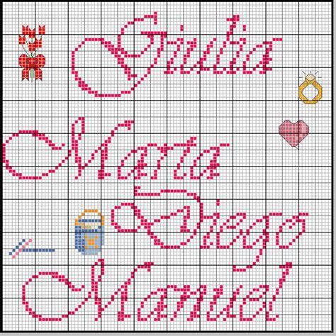 lettere ricamate a punto croce blogmamma it lenzuolini neonato punto croce cerca con