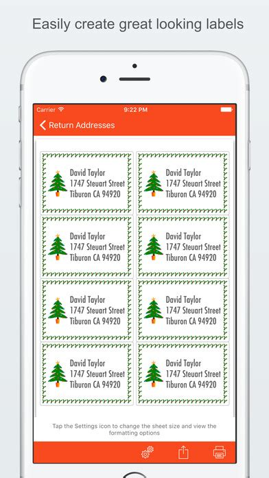 printing address labels from iphone contacts label printer create and print labels on the app store