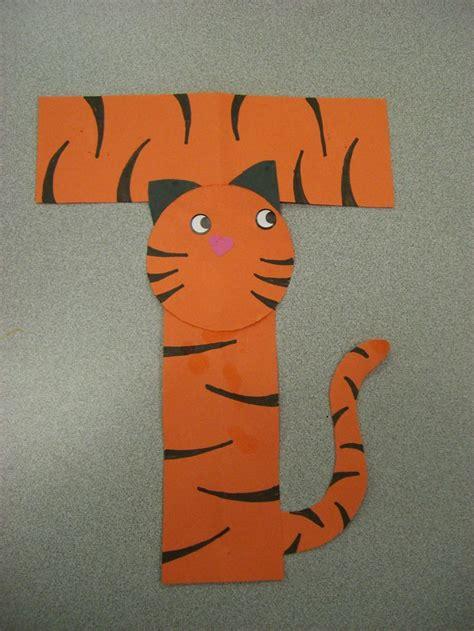 tiger crafts for t is for tiger artwork