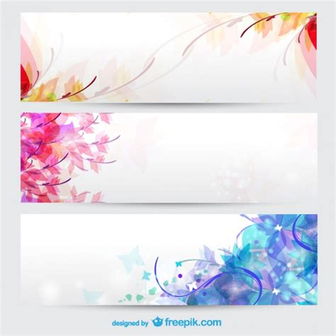 Floral Seasons Background Banners Vector Free Download Copyable Resume Templates