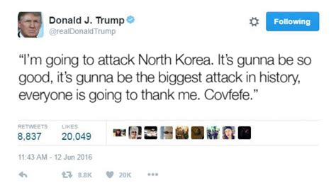 donald trump north korea tweet computer simulation of a north korean nuclear attack on