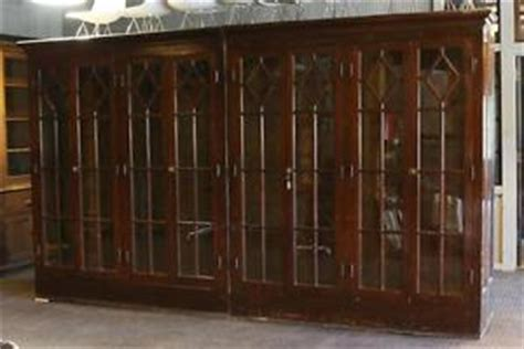 Library Cabinet With Glass Doors Antique Bookcase Library Cabinet Architectural Salvage Glass Doors Toledo Oh Ebay