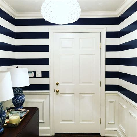 foyer paint colors benjamin benjamin navy striped walls foyer interiors by