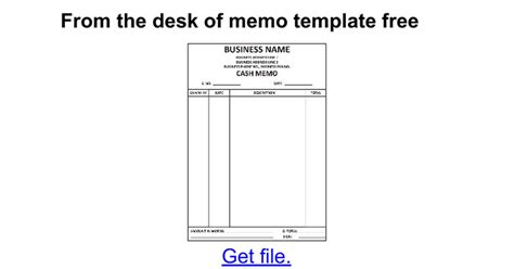 from the desk of template from the desk of memo template free docs