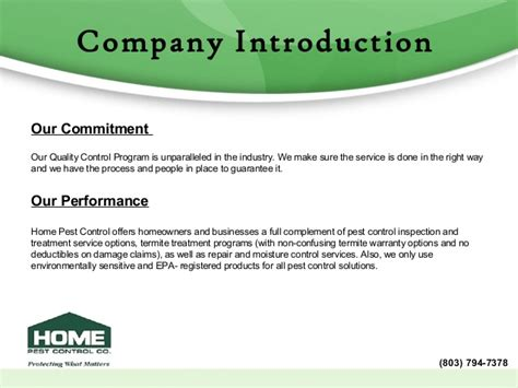 how to create company profile home pest company profile
