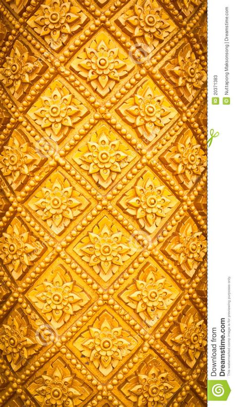 thai pattern history thai style pattern design handcraft on wood stock photos