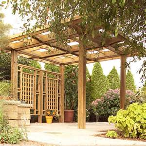 Backyard Landscape Structures Made In The Shade Pergola Woodworking Plan From Wood Magazine