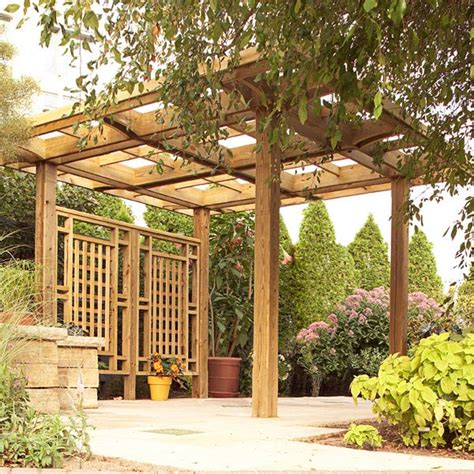 Backyard Structure by Made In The Shade Pergola Woodworking Plan From Wood Magazine
