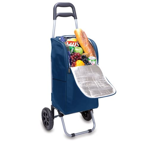 Picnic Time Cooler picnic time cart cooler on wheels with removeable tote navy