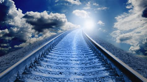 endless railway hd wallpaper wallpaper studio  tens