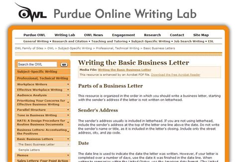 owl at purdue cover letter best purdue owl business letter letter format writing