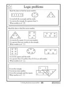 3rd grade 4th grade math worksheets logic problems