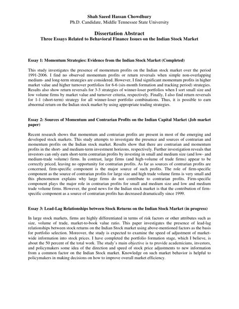 abstract for dissertation dissertation abstract in