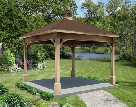 gazebo creations cut cedar single roof ramadas ramadas by material