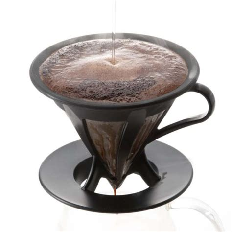Promo V60 Cone Coffee Filter Stainless Coffee Dripper Saringan Kopi coffee consumers hario cafeor stainless steel coffee