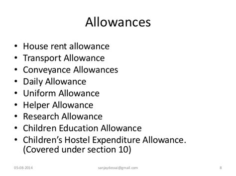 rent allowance section computation of income from salaries