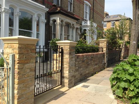 front garden walls front garden yellow brick wall with buff coping and metal