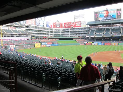 rangers sections globe life park section 119 rateyourseats com