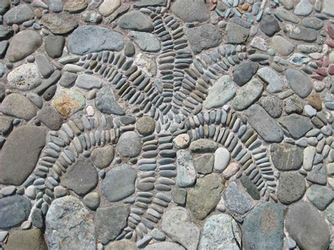 pebble mosaic underfoot nifty homestead