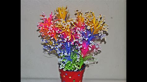 diy beautiful paper flower vase  easy home decor
